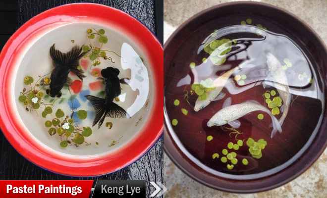 soup bowl layer painting keng lye