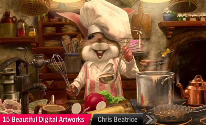 chipmunk chef digital art chris beatrice