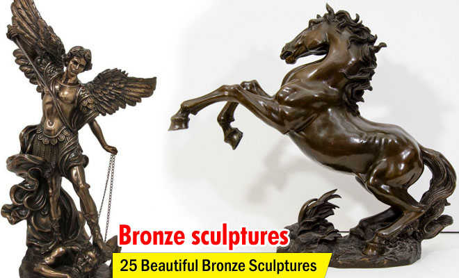 cheval bronze sculptures