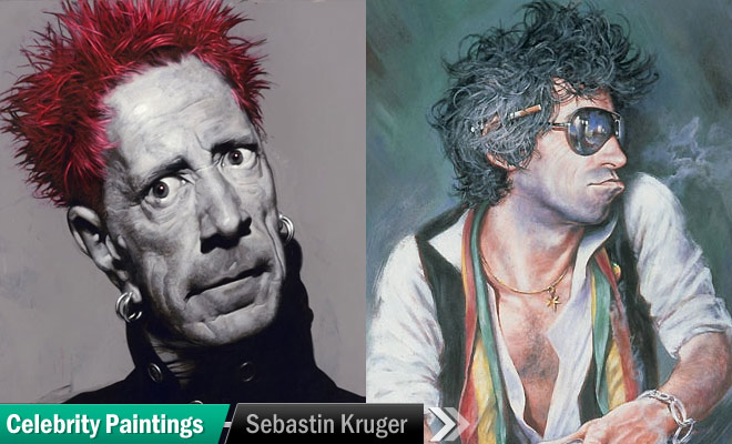 Celebrity Paintings by Sebastin Kruger