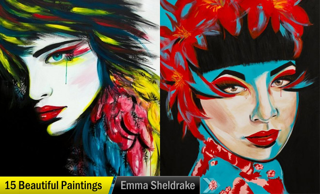 masked girl painting emma sheldrake
