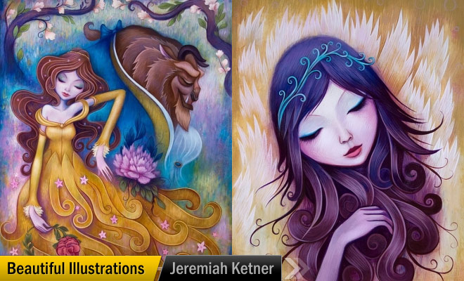 Girl Paintings by Jeremiah Ketner