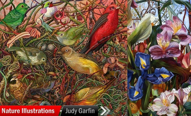 Nature Paintings by Judy Garfin