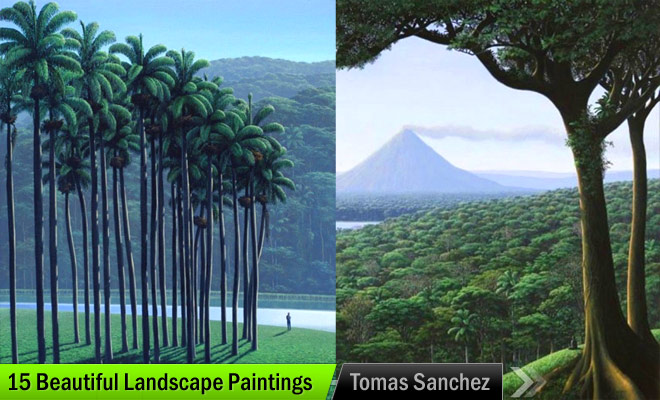 palm trees oil painting tomás sánchez