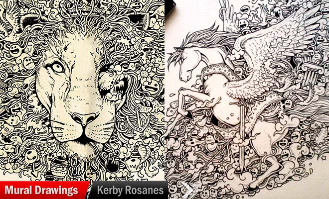 Mural Drawings of Kerby Rosanes