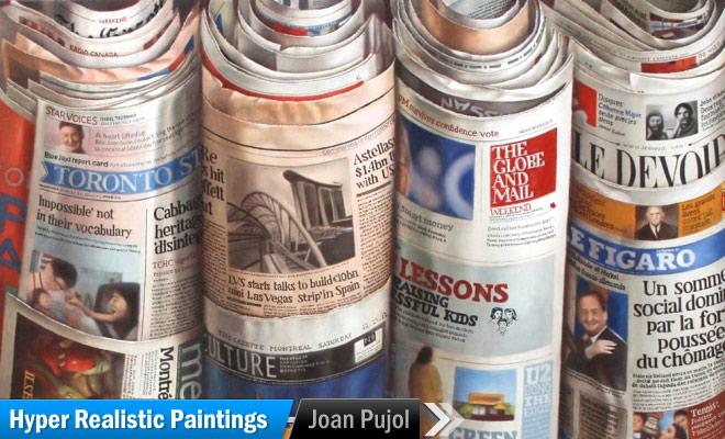 newspaper oil painting joan