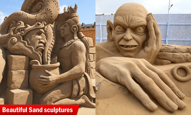batman sand sculptures