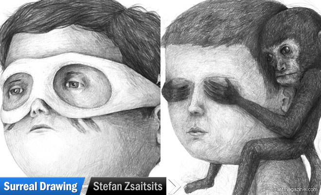 Surreal Drawings by Stefan Zsaitsits