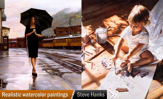 Watercolor paintings from Steve Hanks