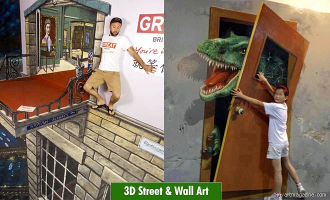 3d street wall art by brad downey
