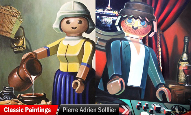 Classic Paintings by Pierre Adrien Solllier
