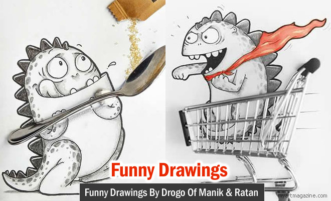 Funny Drawings by Drogo of Manik and Ratan