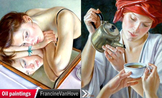 art gallery oil painting francine