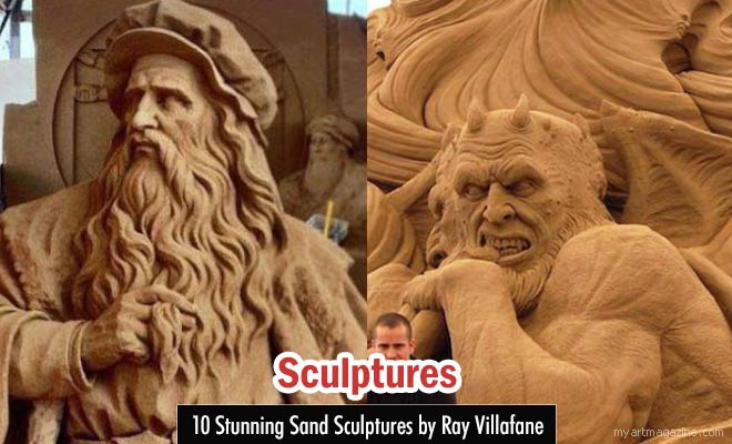 Sand Sculptures by Ray Villafane