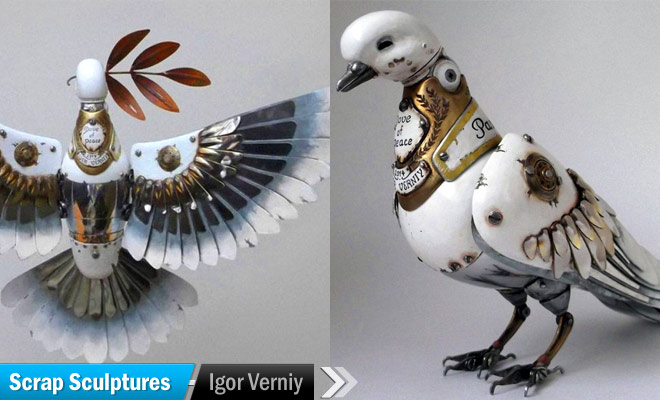 Scrap Sculptures by Igor Verniy