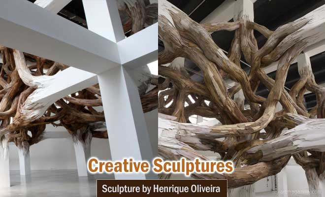 sculpture by henrique oliveira