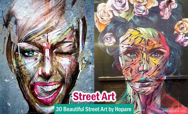 Street Art works by Hopare