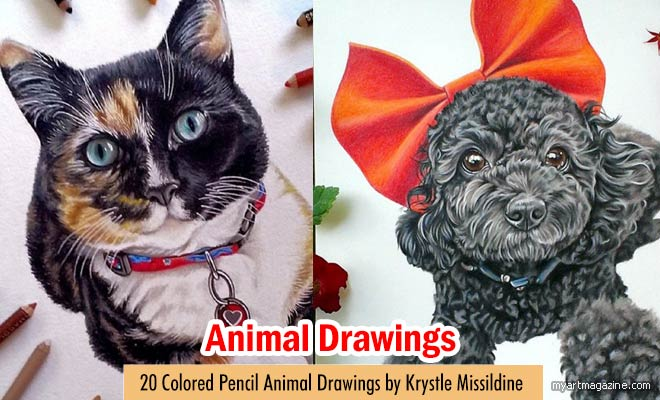 Colored Pencil Drawings by Krystle Missildine