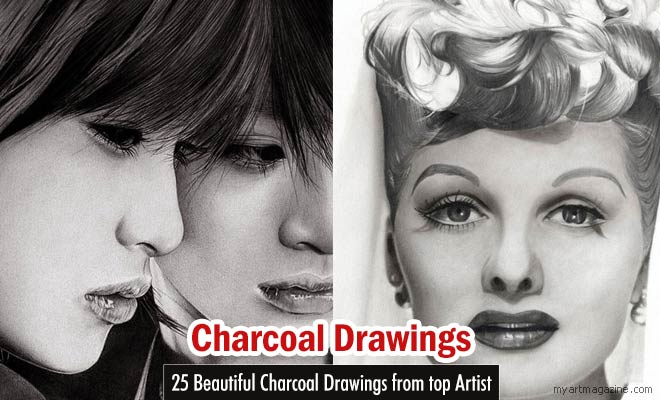 man charcoal drawings by nartbits