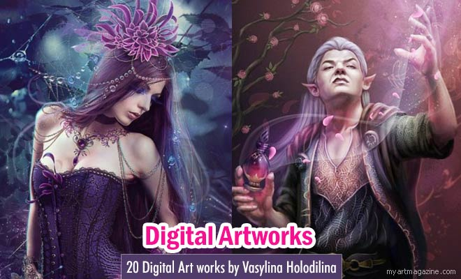 Digital Art works by Vasylina Holodilina