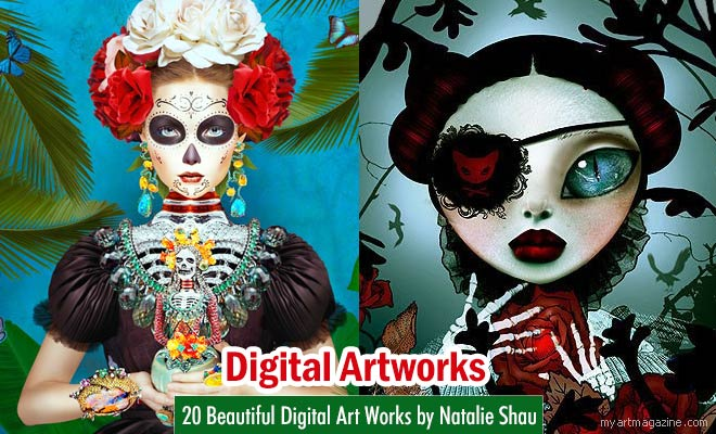 Digital Art Works by Natalie Shau