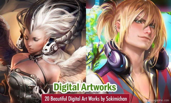Digital Art Works by Sakimichan