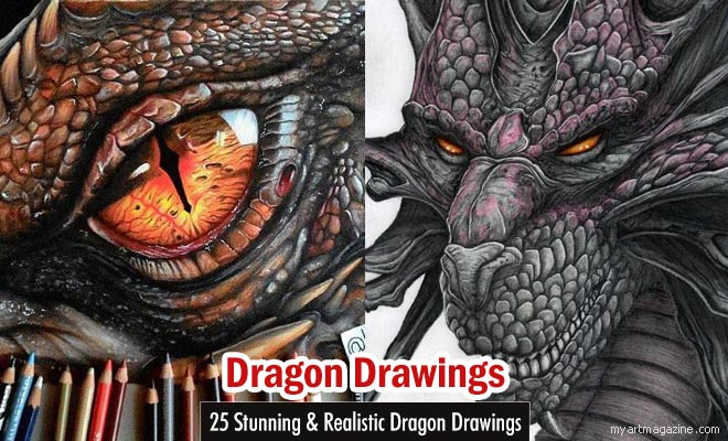 25 Stunning and Realistic Dragon Drawings from around the ...