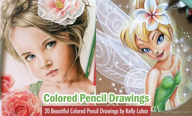 Colored Pencil Drawings by Kelly Lahar
