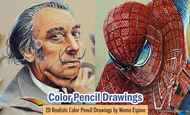 Color Pencil Drawings by Memo Espino