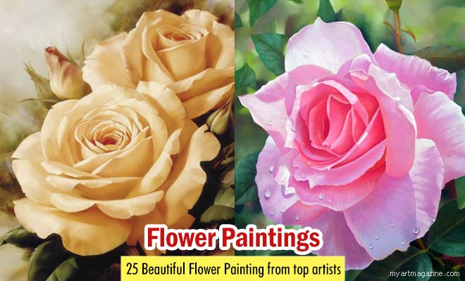 flower painting by harold