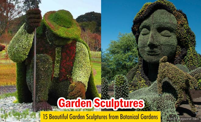 green horse garden sculptures