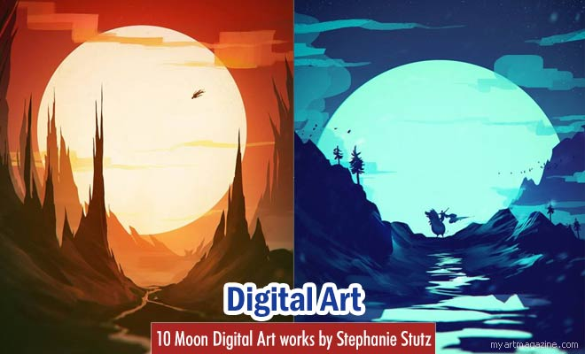 moon digital art by stephanie stutz