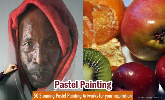 red pepper pastel painting