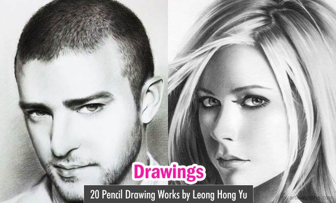 Pencil Drawing Works by Leong Hong Yu