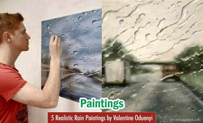Rain Paintings by Valentine Oduenyi