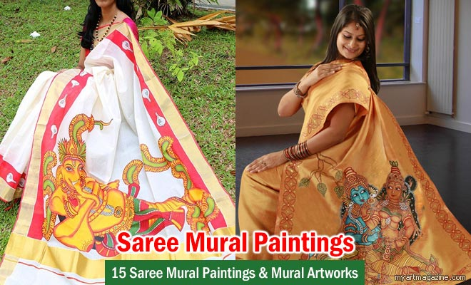 vishnu saree mural painting