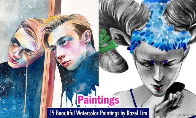 Watercolor Painting Works by Kazel Lim