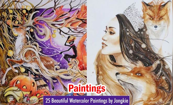 Beautiful Watercolor Paintings by Jongkie