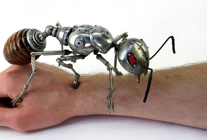 ant scrap sculptures igor