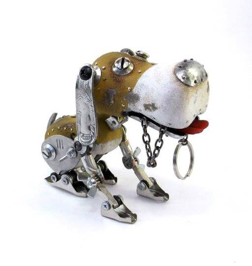 dog scrap sculptures igor
