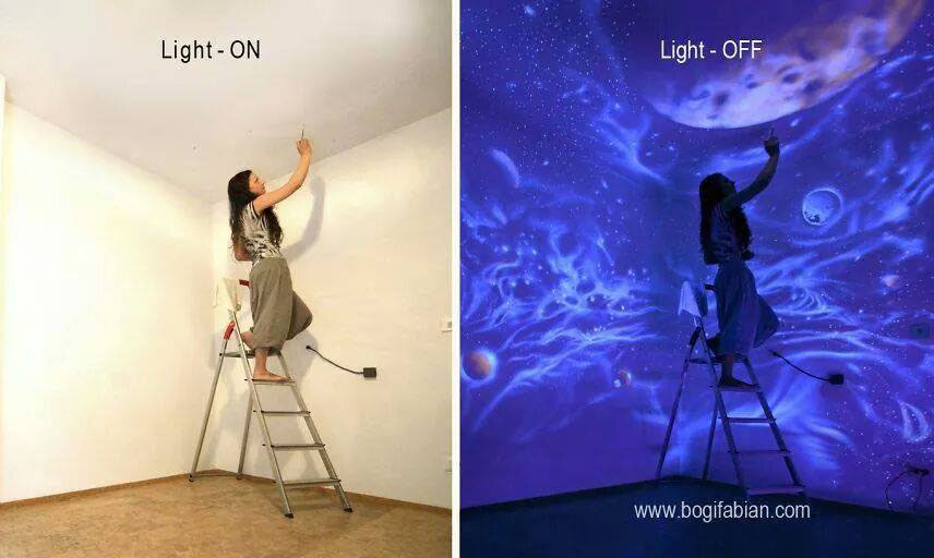 Mural Paintings Bogi Fabian 7 mural paintings bogi fabian 7. 10 Beautiful Night Glowing Mural Art works by Bogi Fabian