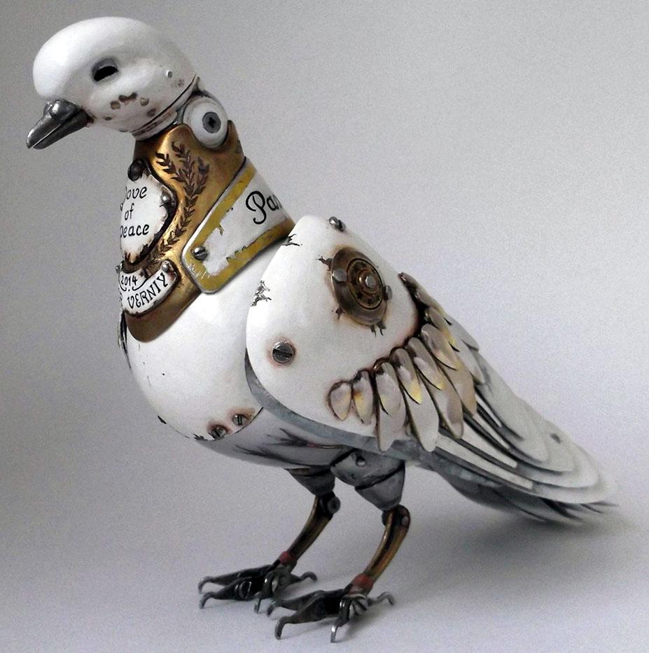 pigeon scrap sculptures igor