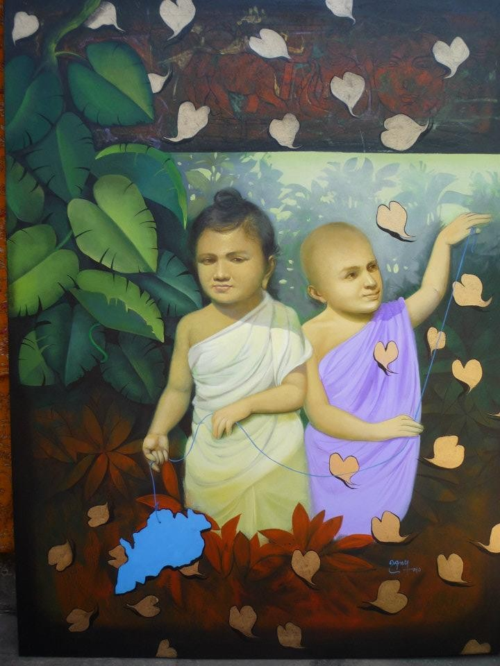 children acrylic paintings by raghunath sahoo