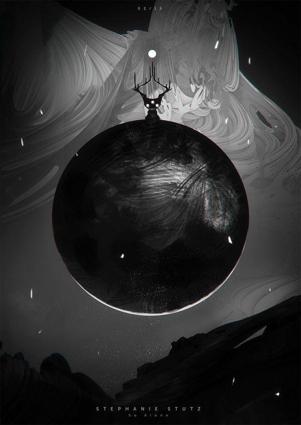 moon digital art by stephanie stutz