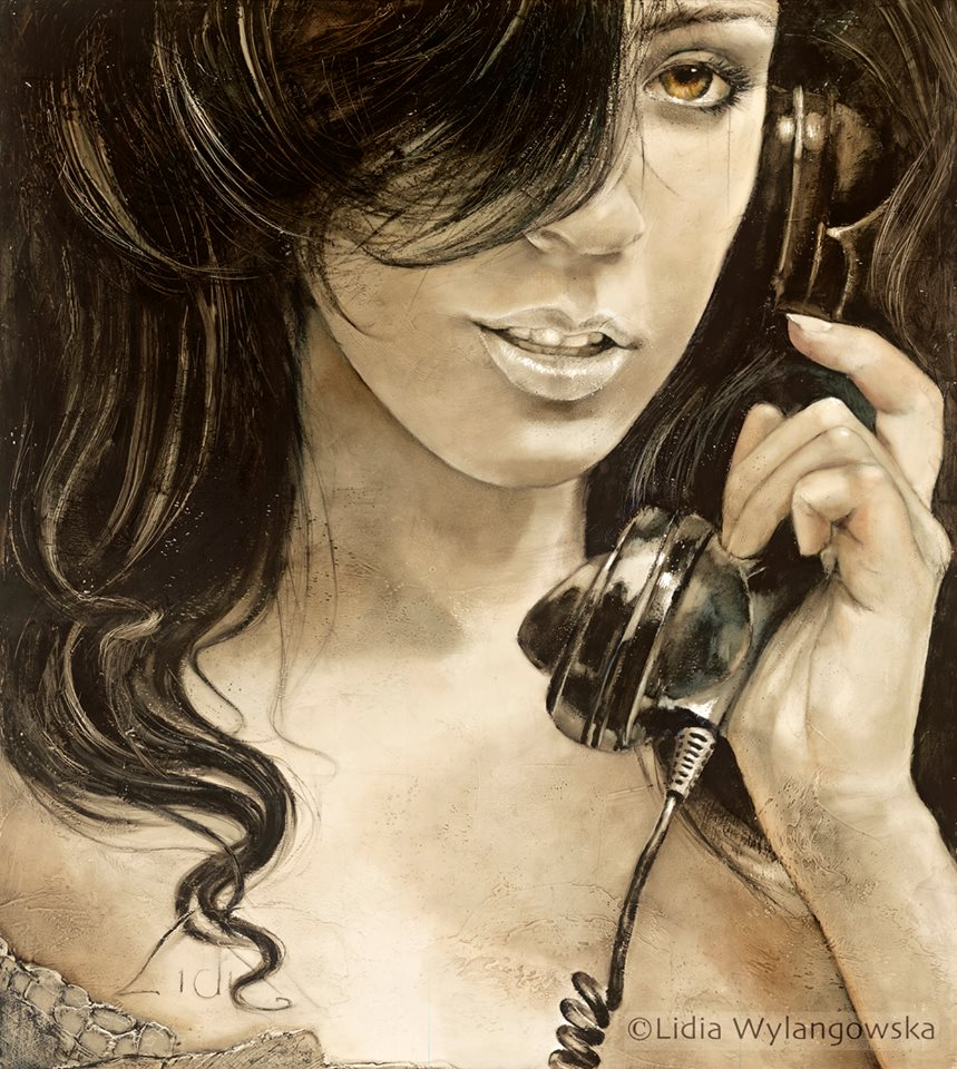 caller oil painting lidia