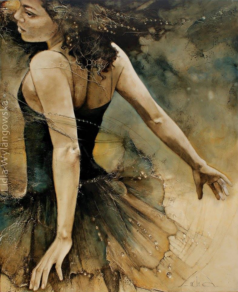 dancer oil painting lidia
