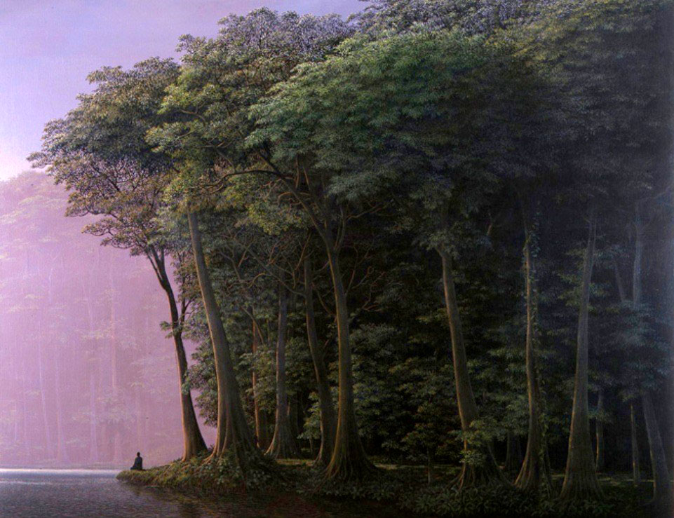 forest oil painting tomás sánchez