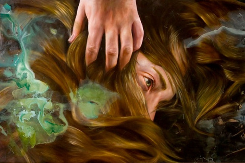hair oil painting angela