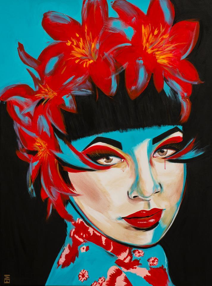 japanese lady painting emma sheldrake
