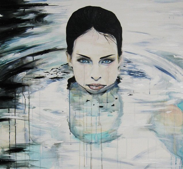 pool lady painting emma sheldrake